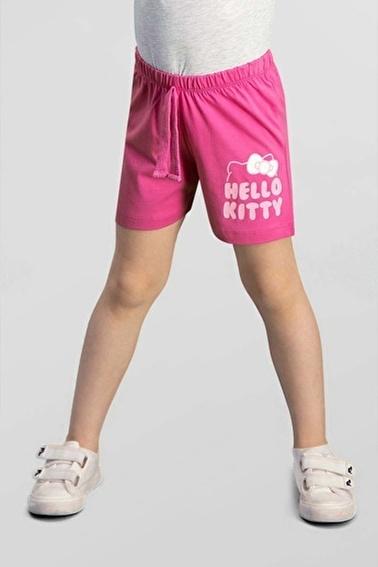 Hello Kitty Hello Kitty Lisanslı Nar Kız Çocuk Şort Pembe
